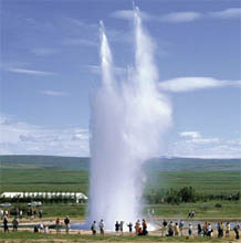 The world-famous Geyser