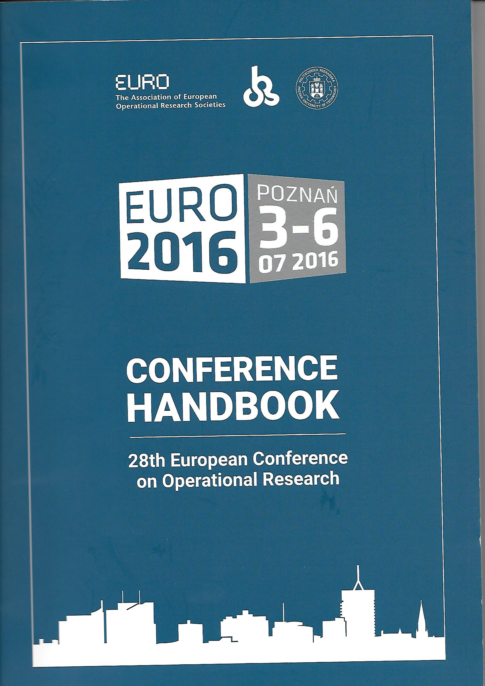 Euro The Ociation Of European Operational Research Societies Last Activity Reports